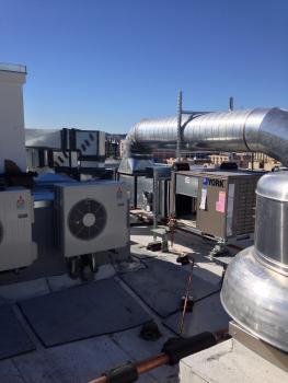 HVAC on the roof