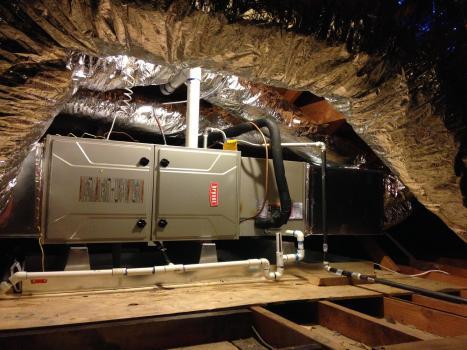 HVAC in attic space